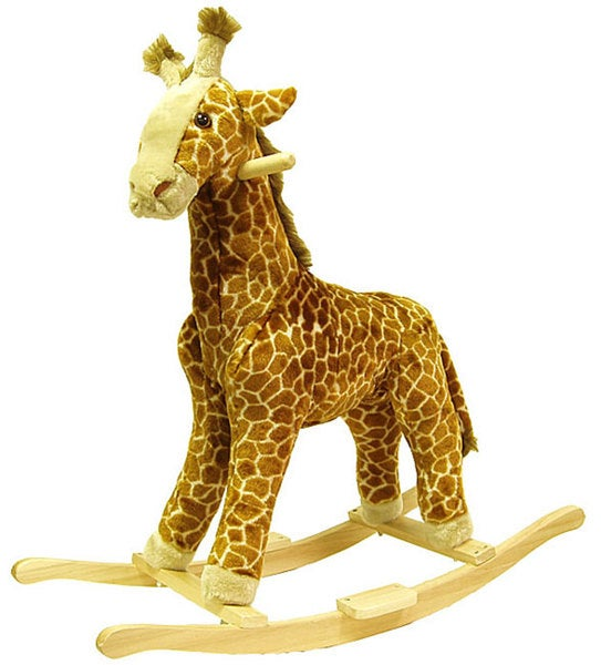 Shop Happy Trails Giraffe Plush Rocking Animal