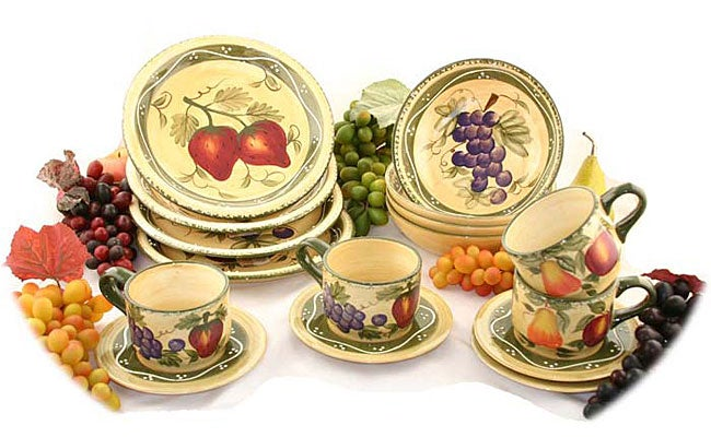 Tuscan Collection Hand painted 16 piece Dinnerware Set