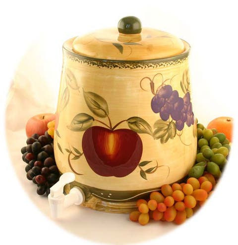 Tuscan Collection Hand-painted Water Jar