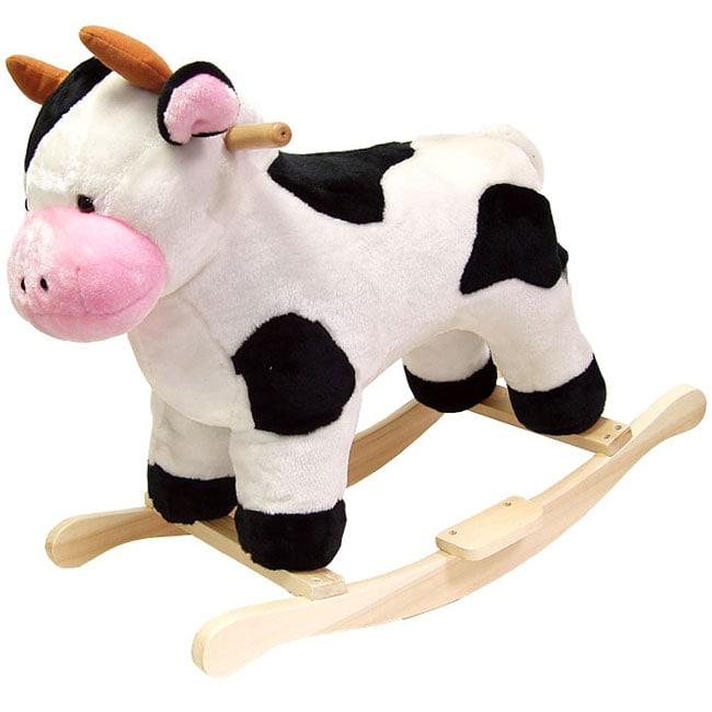 Plush Children's Rocking Cow