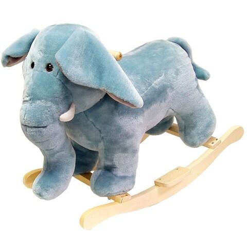 Happy Trails Plush Elephant Rocking Animal