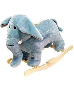 Happy Trails Plush Elephant Rocking Animal - Thumbnail 0