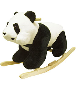 Plush Children's Rocking Panda Bear - Thumbnail 0