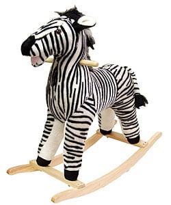 Plush Children's Rocking Zebra - Thumbnail 0