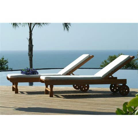 Tottenville Eucalyptus Deck Chair by Havenside Home - 1pc