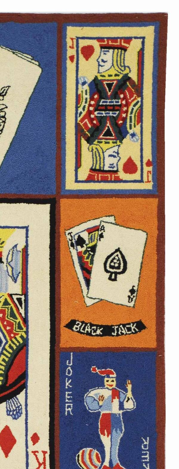 Safavieh Hand-hooked Ultimate Poker Multi Wool Runner (2'6 x 8') - Thumbnail 1