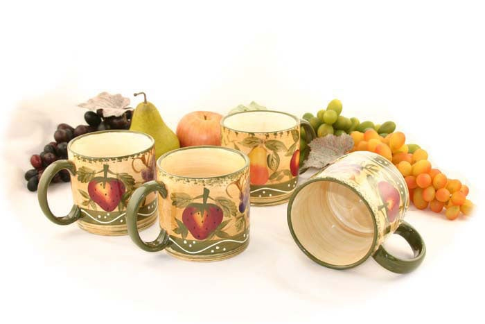 Tuscan Collection 4-piece Mug Set - Thumbnail 0