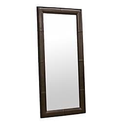 Dark Espresso Bi-cast Leather Floor Mirror
