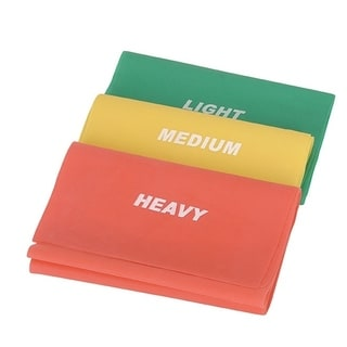 Sunny Health & Fitness No. 042 Portable Pilates Latex Resistance Bands for Any Level (Set of 3)