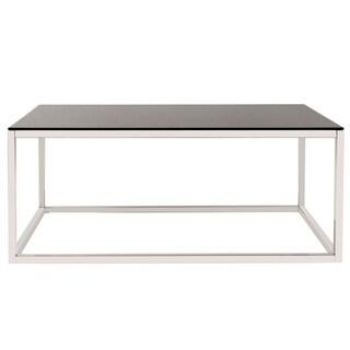 Rectangular Stainless Steel Coffee Table - Black