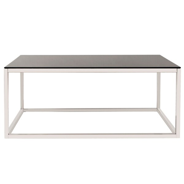 Rectangular Stainless Steel Coffee Table - Black