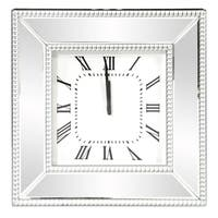 Mirrored Square Frame Wall Clock
