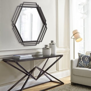 Raven Iron Frame Wall Mirror - Dark grey - A/N