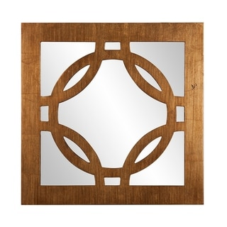 Felicity Square Wood Frame Wall Mirror - Gold - A/N