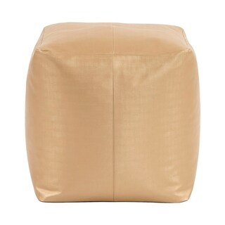 Luxe Gold Square Pouf