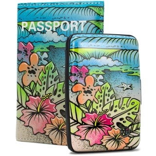 Maui and Sons RFID Wallet, Passport Cover Set - Prevent Identity Theft
