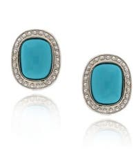Glitzy Rocks Sterling Silver Blue Turquoise Earrings