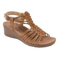 Women's Bare Traps Trudy Wedge Sandal Caramel Polyurethane