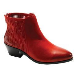 Women's David Tate Kaci Ankle Boot Red Brushed Nubuck