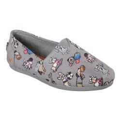 Women's Skechers BOBS Plush Go Fetch Alpargata Gray