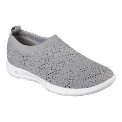 Women's Skechers GOwalk Lite Harmony Slip-On Shoe Light Gray