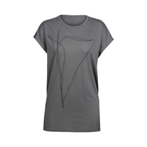 b902bdb14429e Shop Women s Icebreaker Aria Short Sleeve Tunic Blade Metal - Free Shipping  Today - Overstock.com - 21555418