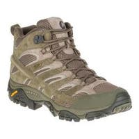 Men's Merrell Moab 2 Mid Waterproof Hiking Boot Dusty Olive