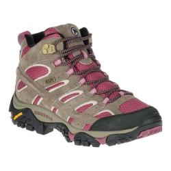 Women's Merrell Moab 2 Mid Waterproof Hiking Boot Boulder/Blush