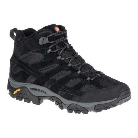 Men's Merrell Moab 2 Vent Mid Hiking Shoe Black Night