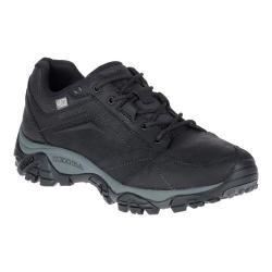 Men's Merrell Moab Adventure Lace Waterproof Hiking Shoe Black Nubuck Leather
