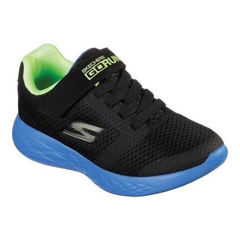 Boys' Skechers GOrun 600 Roxlo Running Shoe Black/Blue/Lime