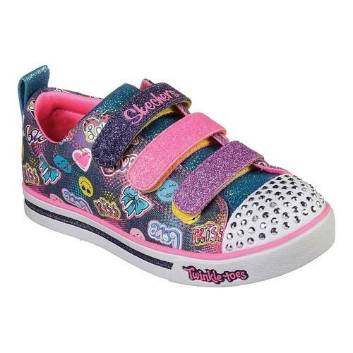 Shop Girls Skechers Twinkle Toes Shuffles Sparkle Glitz Light Up