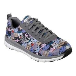 Women's Skechers Work Relaxed Fit Comfort Flex HC Pro Scratchey Charcoal/Multi
