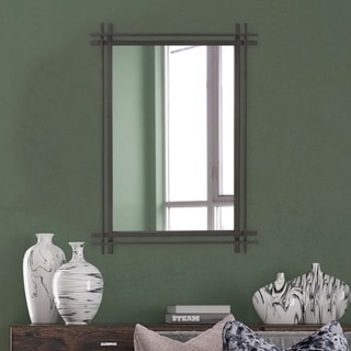 Clarke Rectangular Iron Frame Wall Mirror - N/A