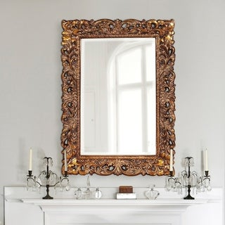 Barcelona Antique Gold Framed Wall Mirror - N/A