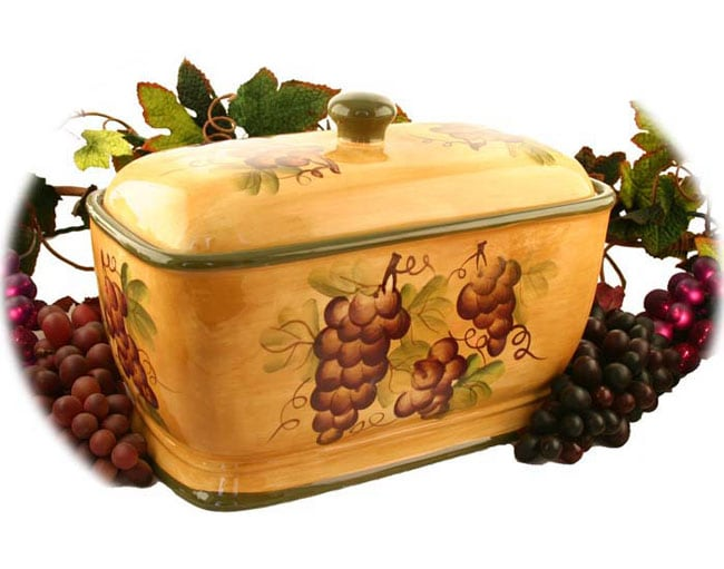 Sonoma Collection Hand-painted Bread Container - Thumbnail 0