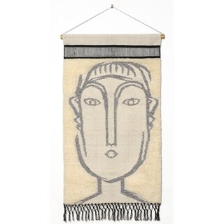 "RugSmith Gray Matisse Contemporary Modern Wall Hanging, 2'1"" x 3'4"""