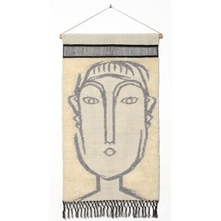 """RugSmith Gray Matisse Contemporary Modern Wall Hanging, 2'1"""" x 3'4"""""""