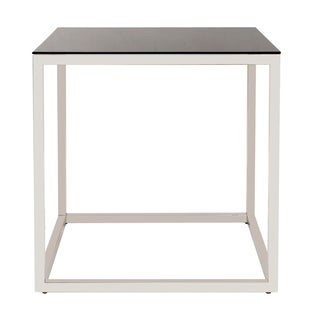 Square Stainless Steel End Table - Black