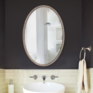 Korda Silver Plated Oval Wall Mirror - A/N
