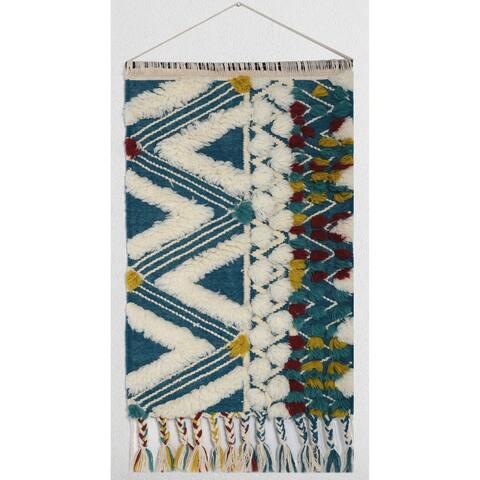 "RugSmith Blue Yakima Southwestern Bohemian Wall Hanging, 2' x 3'2"""