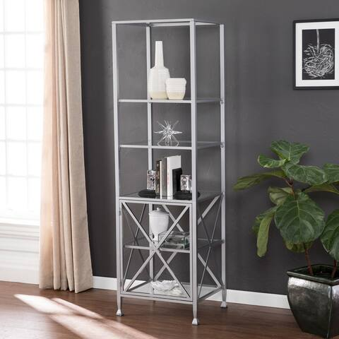 Baydra Tall Narrow Bookcase Etagere
