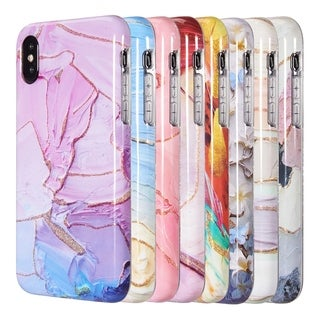 Iphone XS Max Artistry Collection Full Coverage Imd Marble Tpu Case