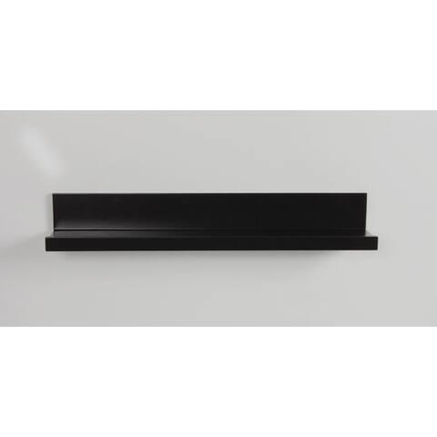 InPlace 24-inch Black Ledge Shelf