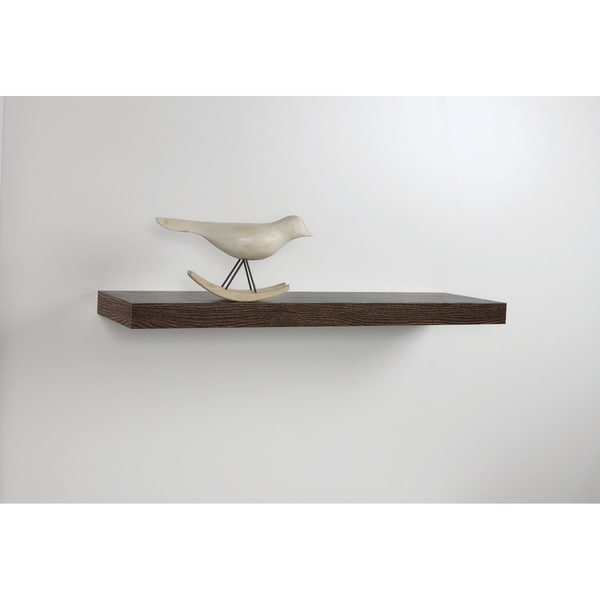 Inplace 35 Inch Oak Floating Shelf Free Shipping On Orders Over 45 25321094
