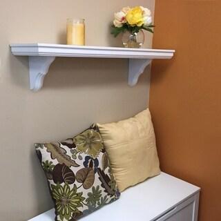 InPlace 35-inch White Bracket Shelf
