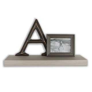 InPlace 23.5-inch Driftwood Floating Shelf