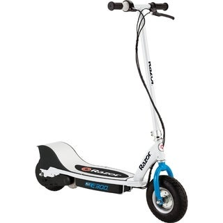 E300 Electric Scooter - White/Blue
