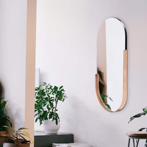 Dante Contemporary Oval Wall Mirror