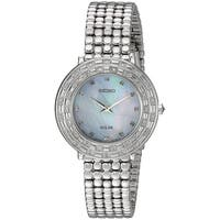 Seiko Women's SUP373 'TRESSIA' Quartz Silver-Toned  Stainless Steel Solar Watch